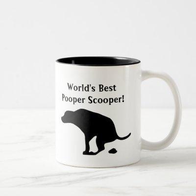 World's Best Pooper Scooper | Dog Parent | Dog Dad Two-Tone Coffee Mug
