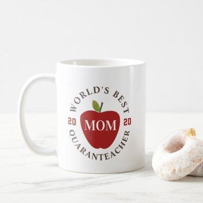 World's Best Quaranteacher 2020 Mom Red Apple Coffee Mug