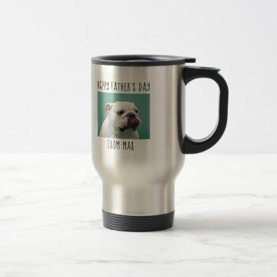 World's Greatest Dog Dad - photo, name and year Travel Mug