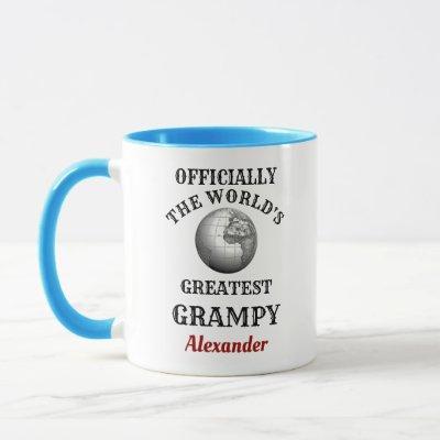 Worlds Greatest Grampy Add Your Name Grandfather Mug