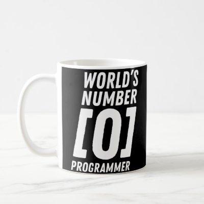 World's Number 0 Programmer Programmer Coding Coffee Mug