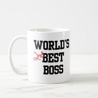 World's Second Best Boss Customizable Mug