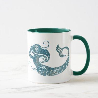 Worn Mermaid Mug