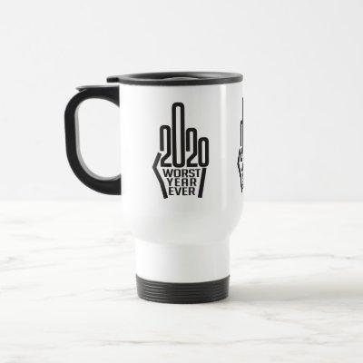 Worst Year Ever Flipping Off 2020 Design Travel Mug