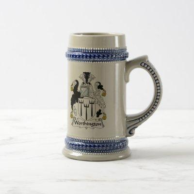 Worthington Family Crest Beer Stein