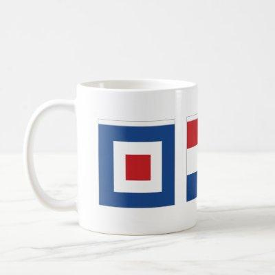 WTF Whiskey Tango Foxtrot Nautical Flags Coffee Mug