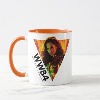 WW84 | Red-Orange Wonder Woman Kaleidoscope Mug