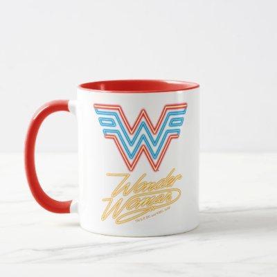 WW84 | Wonder Woman Neon Light Logo Mug