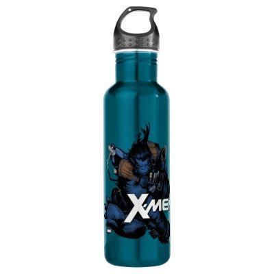 X-Men | Beast Jumping Forward Stainless Steel Water Bottle