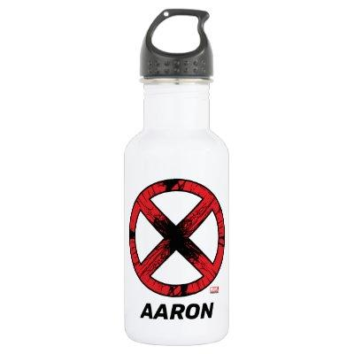 X-Men | Cracked Red and Black X Icon Stainless Steel Water Bottle
