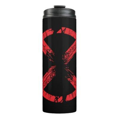 X-Men | Cracked Red and Black X Icon Thermal Tumbler