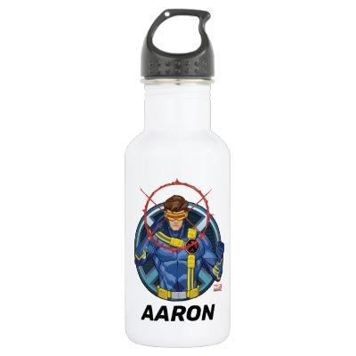 X-Men | Cyclops Character Badge Stainless Steel Water Bottle