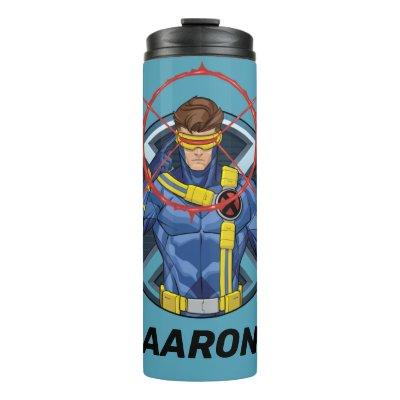 X-Men | Cyclops Character Badge Thermal Tumbler