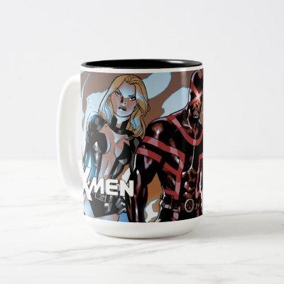 X-Men   Emma Frost, Cyclops, Magneto, & Magik Two-Tone Coffee Mug
