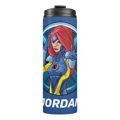 X-Men | Jean Grey Character Badge Thermal Tumbler