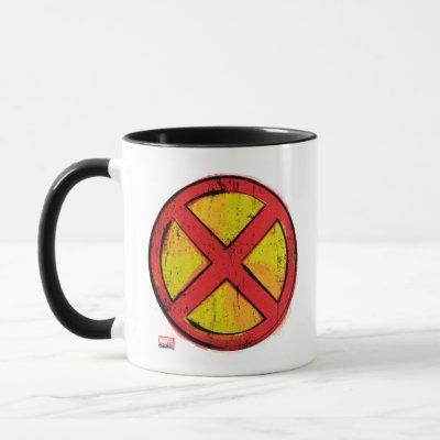 X-Men | Red and Yellow Spraypaint X Icon Mug