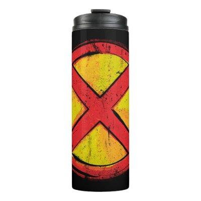 X-Men | Red and Yellow Spraypaint X Icon Thermal Tumbler