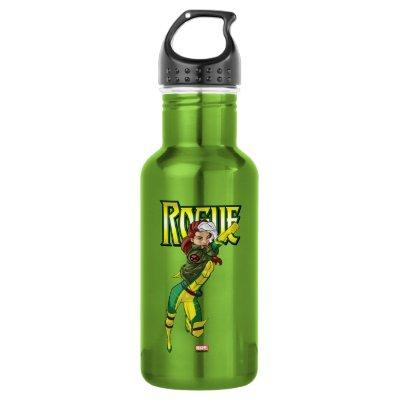 X-Men | Rogue Flying Through The Air Stainless Steel Water Bottle