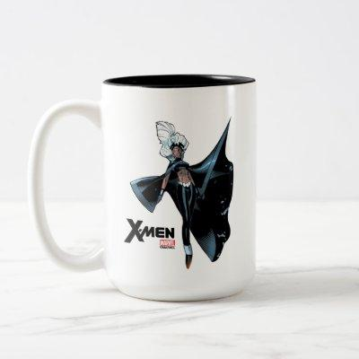 X-Men | Storm Over Burnng City Two-Tone Coffee Mug