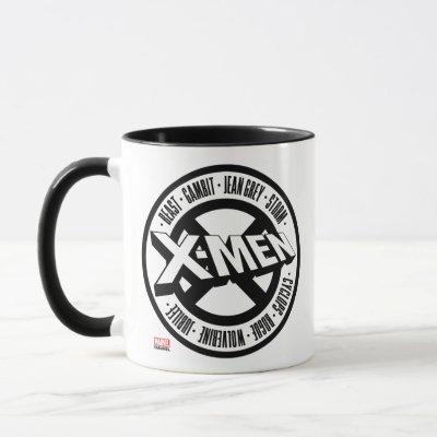 X-Men | Team Member Names Badge Mug