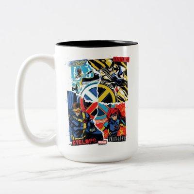 X-Men | Team Punk Logo Graphic Two-Tone Coffee Mug