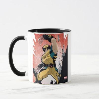 X-Men   Wolverine Slashing Machine Comic Panel Mug