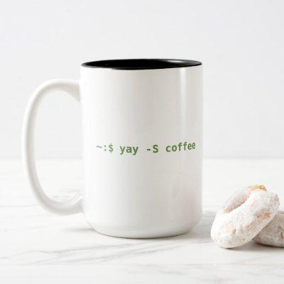 Yay Coffee! Two-Tone Coffee Mug
