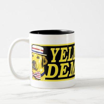 Yellow Dog Democrat Sign Mug