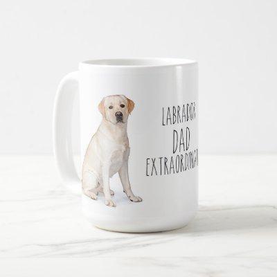 Yellow Lab Dad - Labrador Dad Extraordinaire Coffee Mug