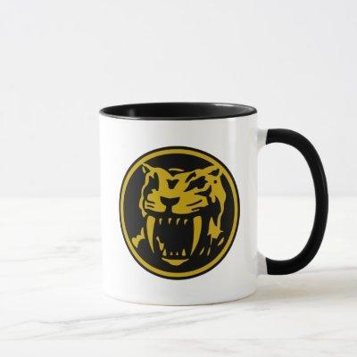 Yellow Ranger Sabertooth Tiger Power Coin Mug
