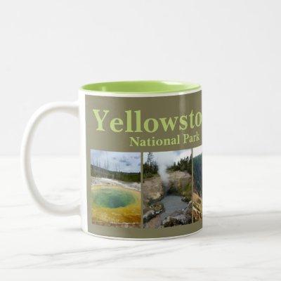 Yellowstone N.P. Collage Two-Tone Coffee Mug