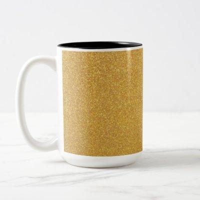 Yet Another Gold Glitter Two-Tone Coffee Mug