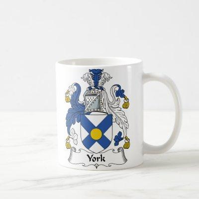 York Family Crest Coffee Mug