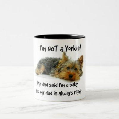 Yorkie Baby Mug Yorkshire Terrier Dad