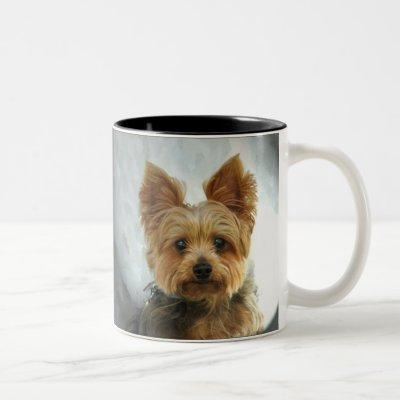 Yorkie Two-Tone Coffee Mug
