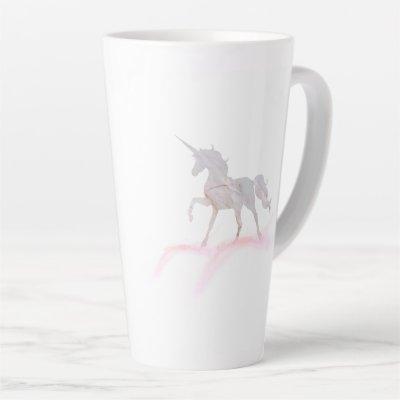 Your Business Logo Personalized Unicorn Cappuccino Latte Mug
