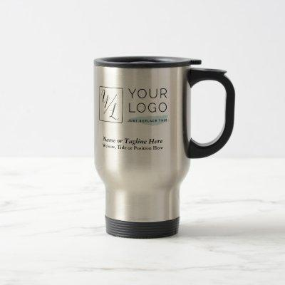 Your Corporate Logo and Customized Details Travel Mug