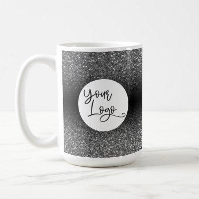 Your Corporate Logo, Silver and Black Ombre Coffee Mug