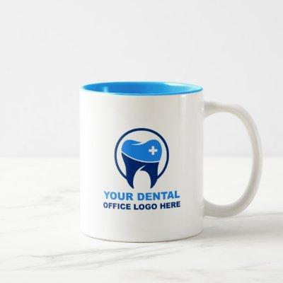 Your Dentist Office Logo Light Blue Two-Tone Coffee Mug