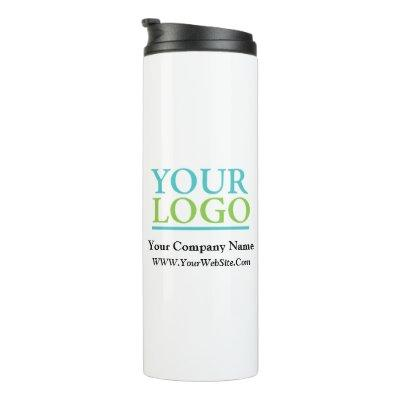 Your Logo, Business Name Promo, DIY Message Thermal Tumbler