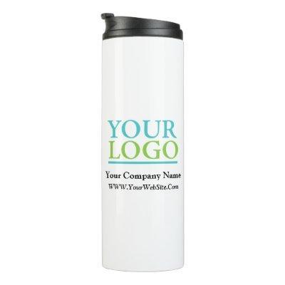 Your Logo, Business Name Promo, DIY Message Thermal Tumbler