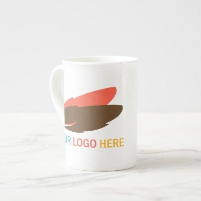 Your logo here business promotional marketing bone china mug