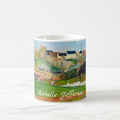 Your Name Impressionist Pastoral Painting Gauguin Coffee Mug