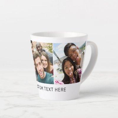 YOUR photos & text custom latte mug