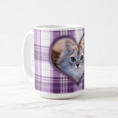 Your Sweet Pet Forever on Purple Plaid Coffee Mug