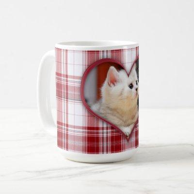 Your Sweet Pet Forever on Red Plaid Coffee Mug