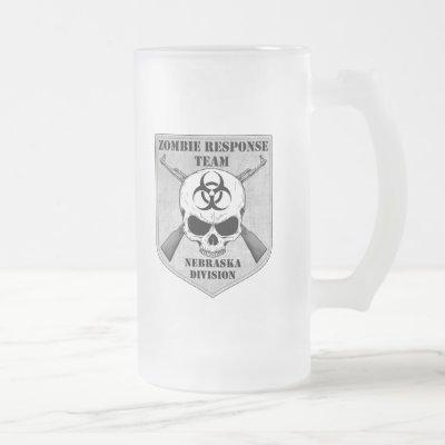 Zombie Response Team: Nebraska Division Frosted Glass Beer Mug
