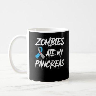 Zombies Ate My Pancreas Type 1 Diabetes Awareness Coffee Mug