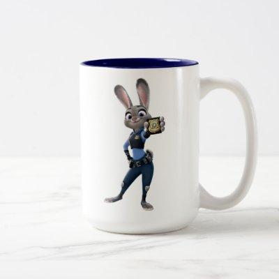 Zootopia | Judy Hopps - Showing Badge Two-Tone Coffee Mug